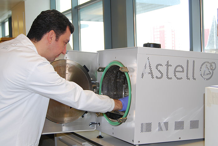Specially adapted Astell Benchtop autoclave