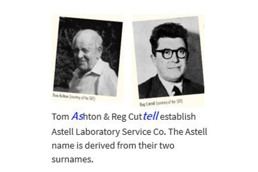 Astell Retrospective - Tom Ashton and Reg Cuttell