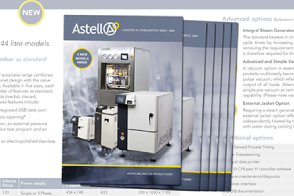Astell releases new autoclave product catalogue