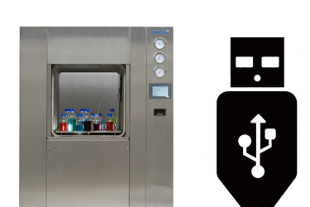 USB data port now standard on all SQUARE range autoclaves