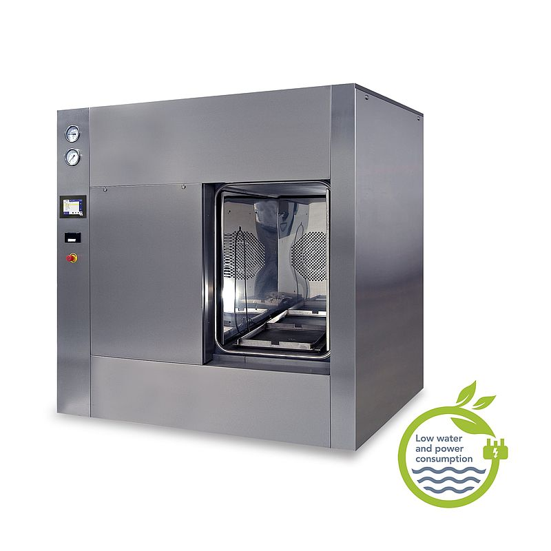 SQUARE MAX autoclave (fitted with optional stainless steel panels)
