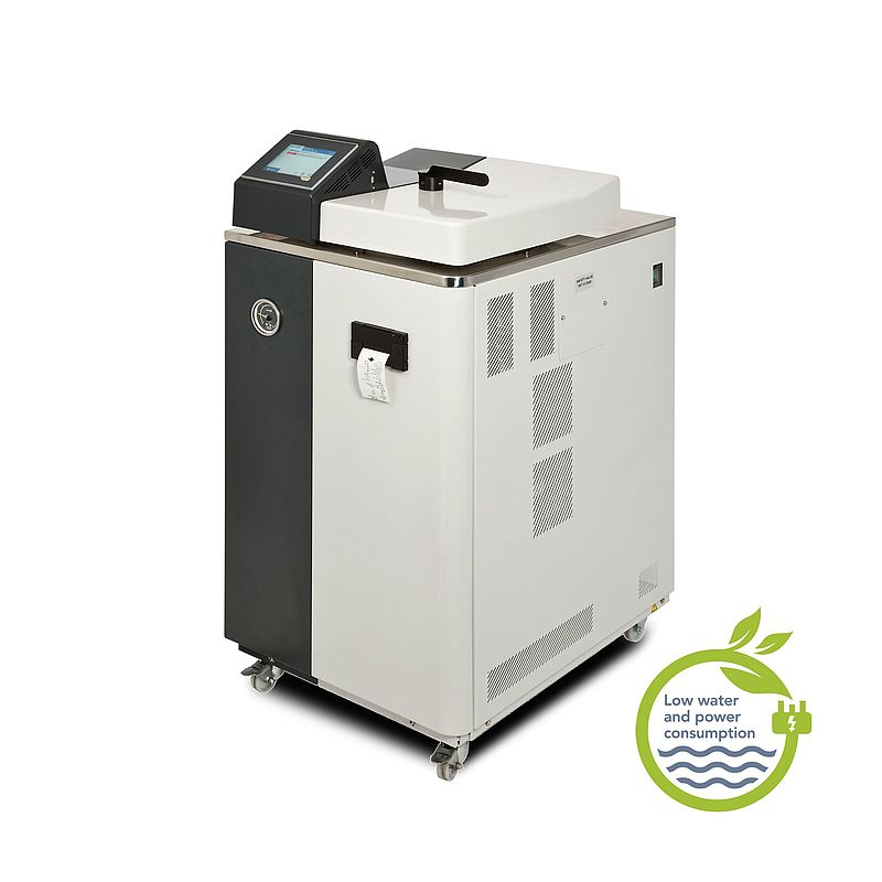 Compact toploading autoclave
